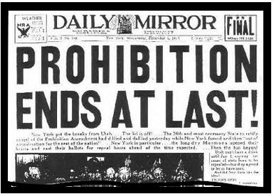 禁酒令终于结束