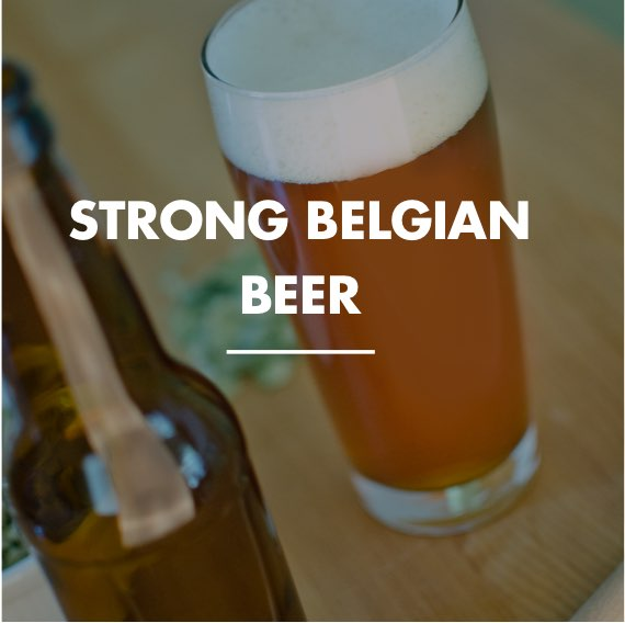 strong belgian beer