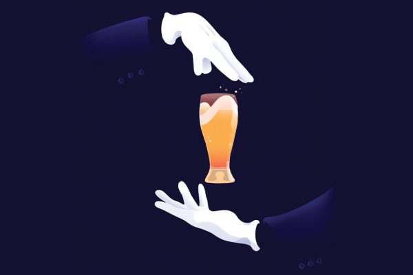 magic with beer