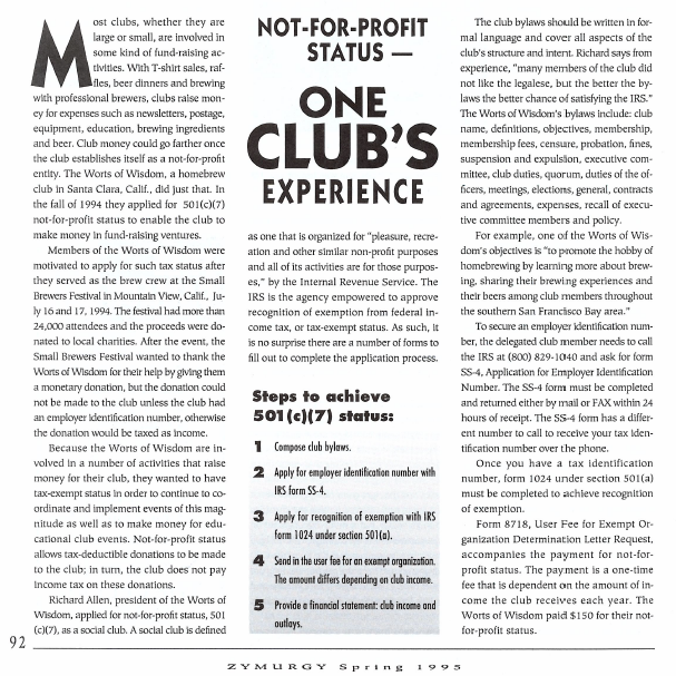 Not For Profit Status For Clubs One Clubs Experience American