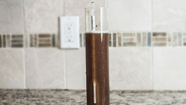 Testing-gravity-lager-homebrewing