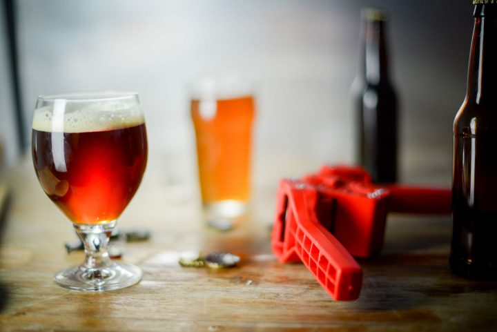 homebrewed beer and bottle capper
